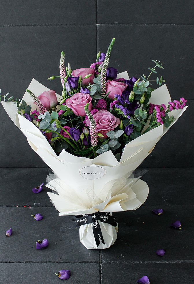 Lavender Floral Hand-tied (Congratulations Gift Set)