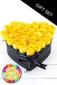 Yellow Roses in a Small Heart-shaped Box (Get Well Soon Gift Set)