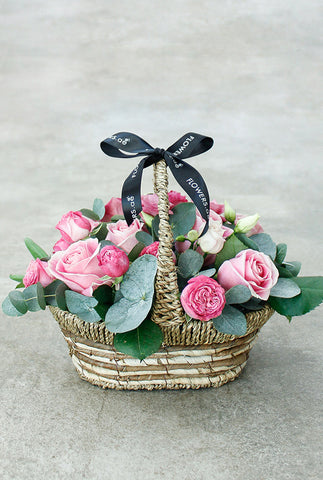 Pink Bundle Basket