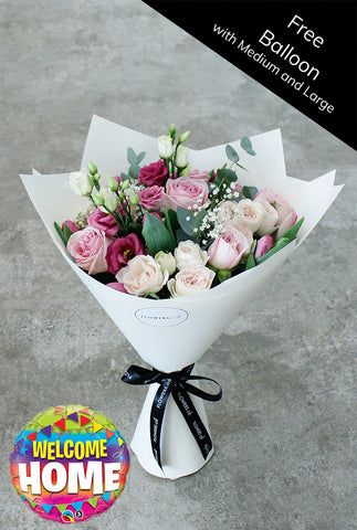 Sweet Garden Hand-tied (Free Welcome Home Balloon with Upgrade)