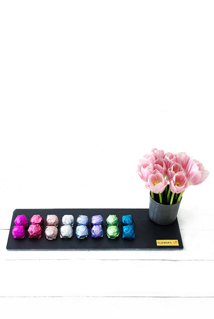 Tulips and Chocolate Platter