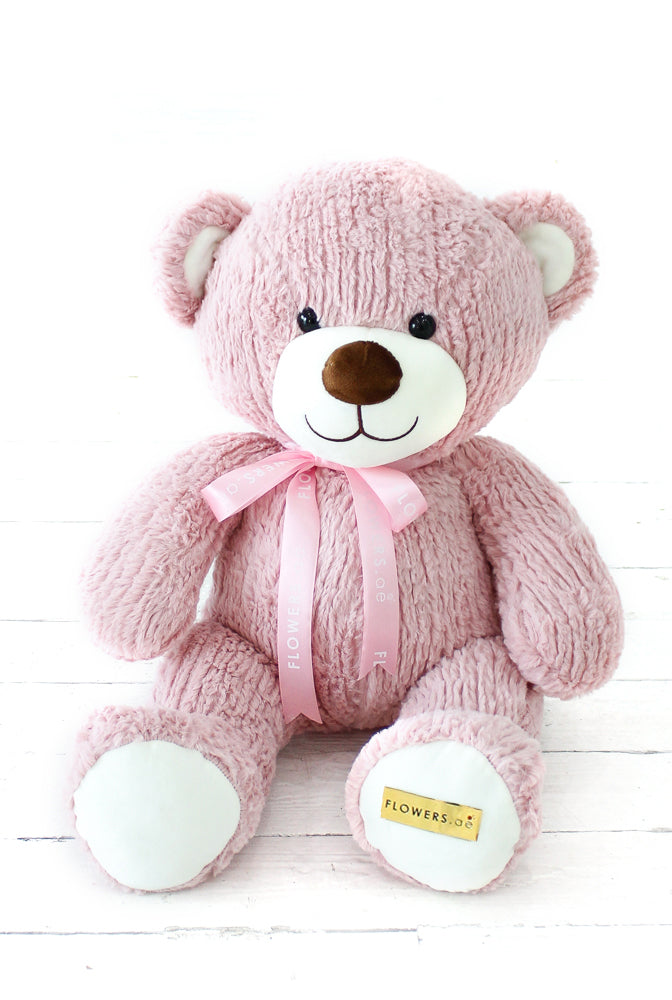 Baby Girl Pink Hatbox with Luxury Teddy and Balloons (3)