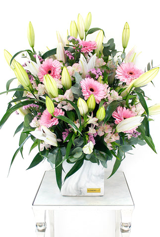 Pink Lily and Gerbera in a Vase