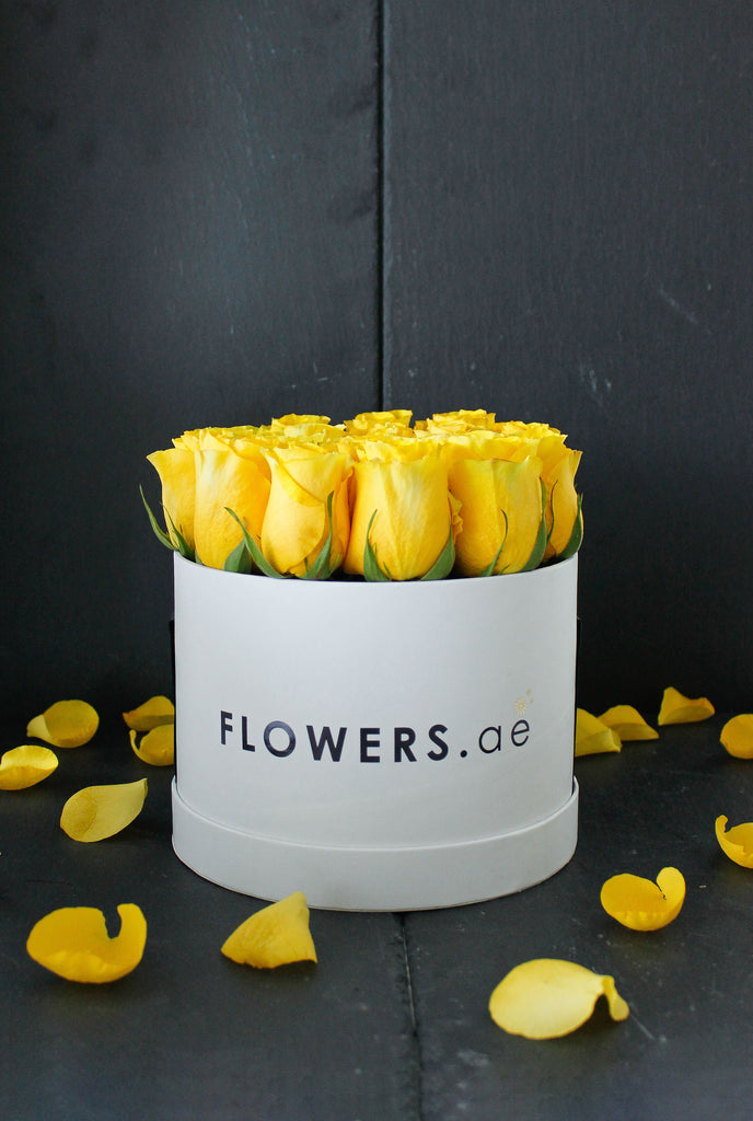 Yellow Rose Hatbox (Get Well Soon Gift Set)