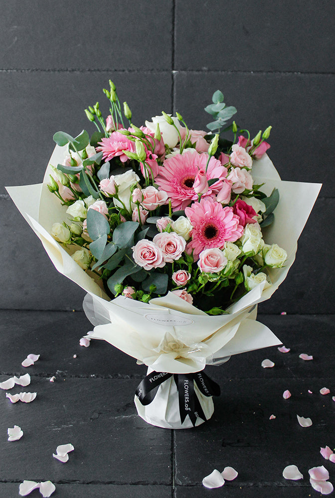 Pretty Pink Hand-tied (Congratulations Gift Set)
