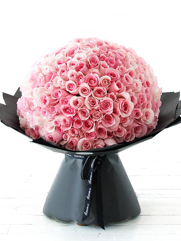 365 Long Stem Pink Rose Hand-tied