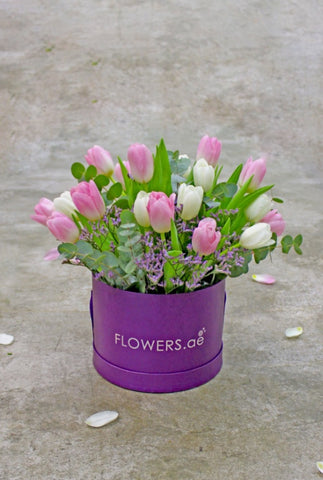 Tulip Lilac Hat Box
