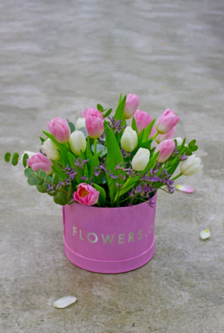 Tulip Pink Hat Box