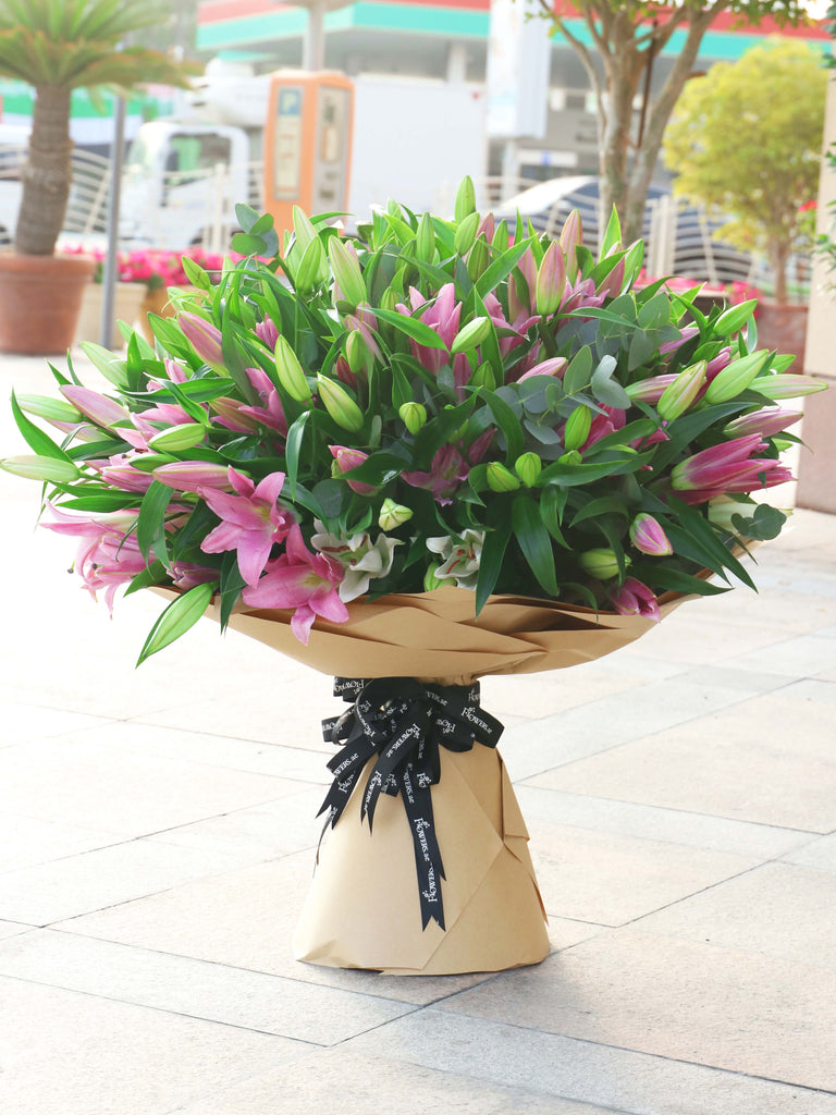 56 Pink Lily Hand-tied