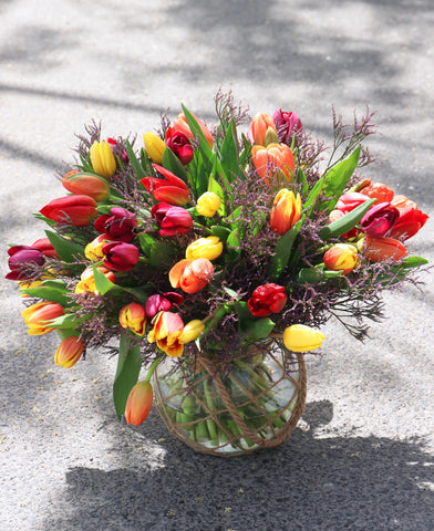 50 Mix Tulips Arrangement
