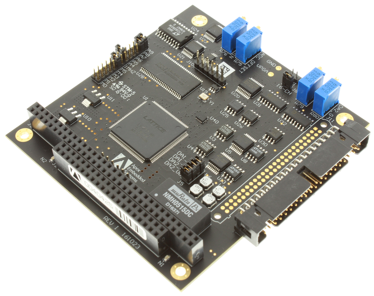 Apex Embedded Systems LLC Releases Updated STX104 16-bit Analog I/O with One Million Sample FIFO PC/104 Module