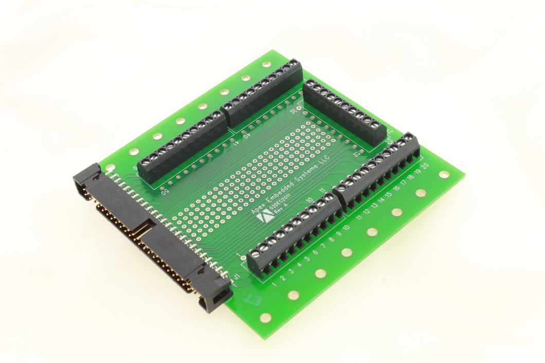 Terminal Breakout Board, 50-pin - Apex Embedded Systems LLC
