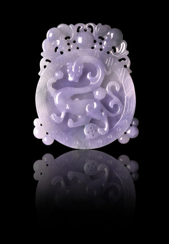 Lavender Jadeite from Lao Feng Xiang Jewelry