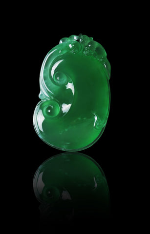 Top quality carved jadeite from Lao Feng Xiang Jewelry