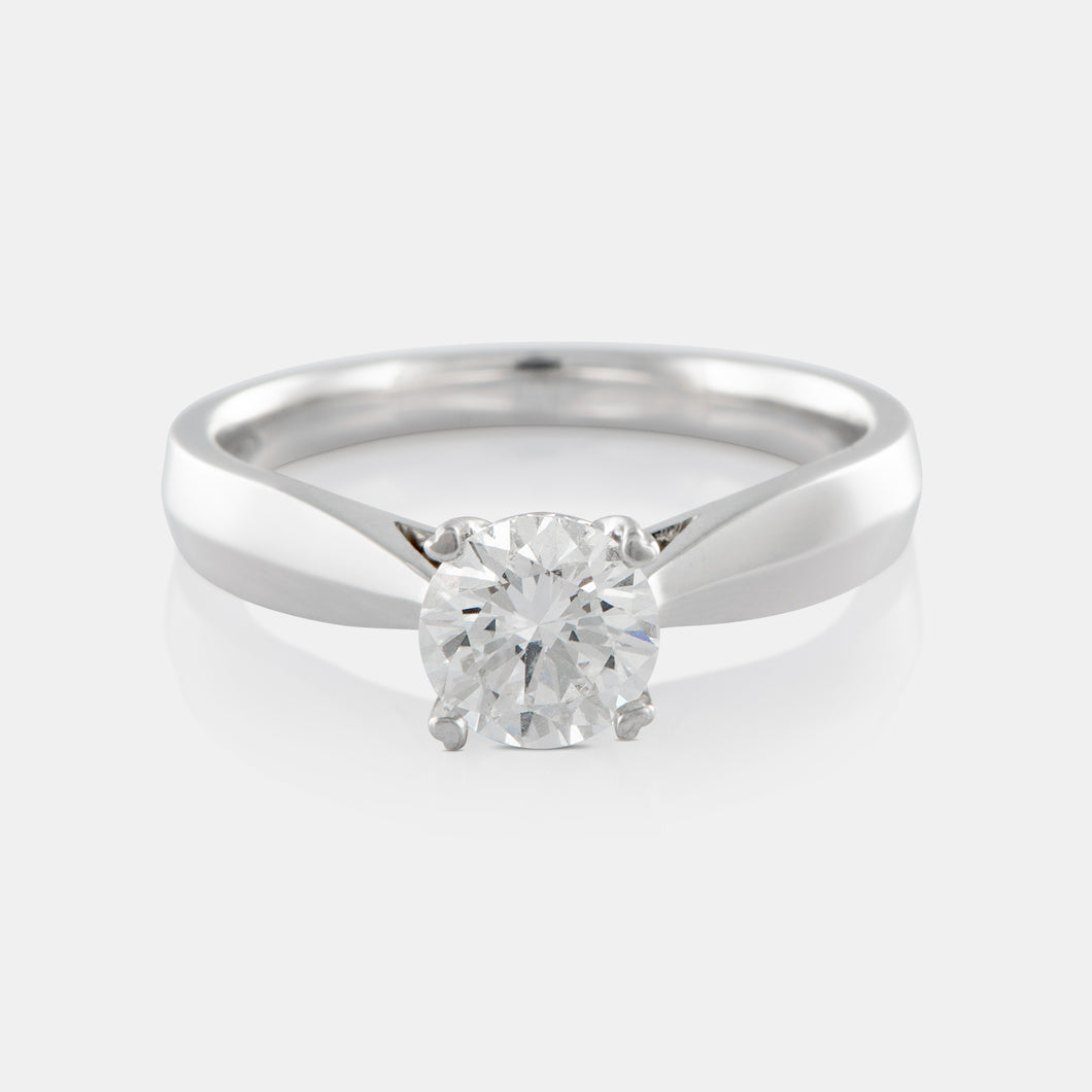 0.72ct Round Brilliant Solitaire Diamond Ring with 18K White Gold