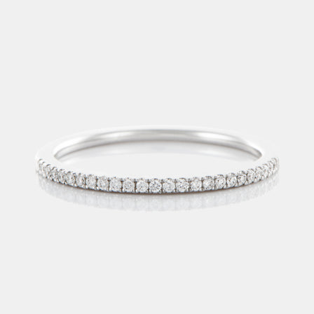 1.5MM Diamond Band with 18K White Gold