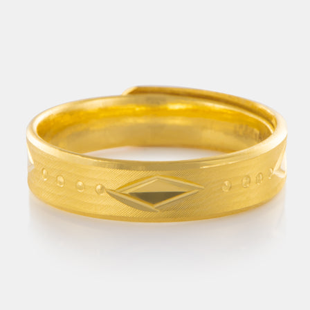 24K Gold 5MM Art Deco Band 6.15g