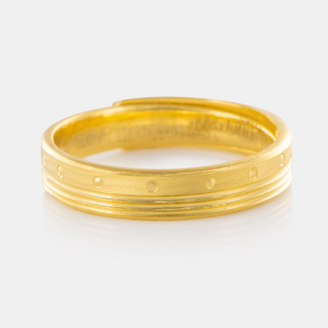 24K Gold 4MM Art Deco Band 4.69g