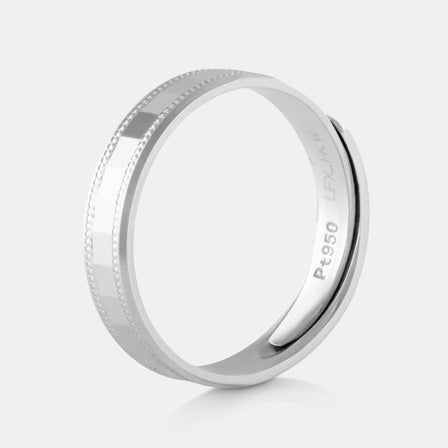 Platinum Squared Mirror Band 5.53g