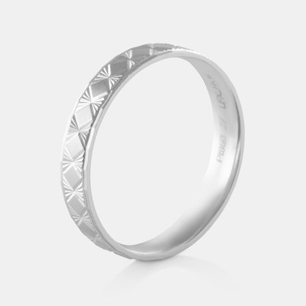 Platinum Faceted Band 6.54g