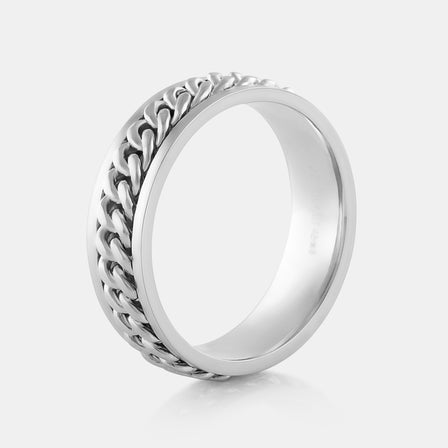 Platinum Chain Ring 16.70g