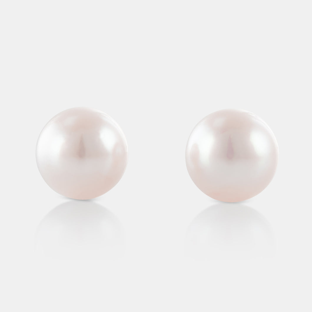 7.5-8MM Akoya Pearl Stud Earrings with 18K White Gold