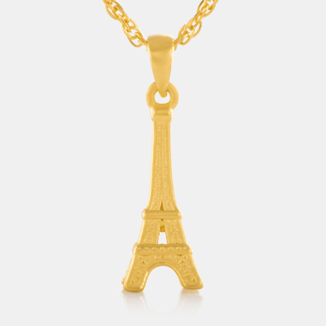 24K Gold Eiffel Tower Pendant