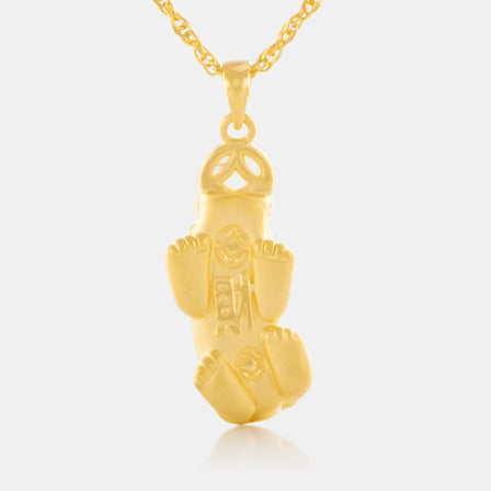 24K Gold Wealthy Pixiu Pendant