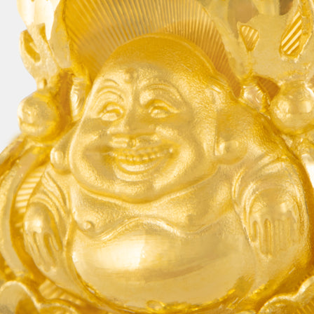 24K Gold Mini Laughing Buddha Pendant