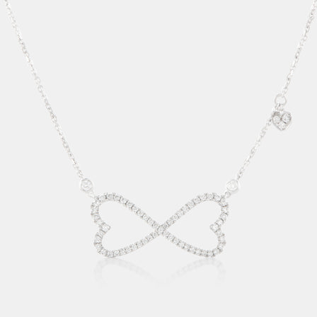 Diamond Infinity Necklace with 18K White Gold