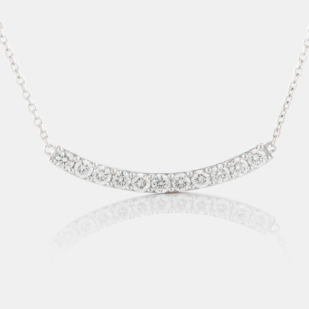 Diamond Arch Necklace with 18K White Gold
