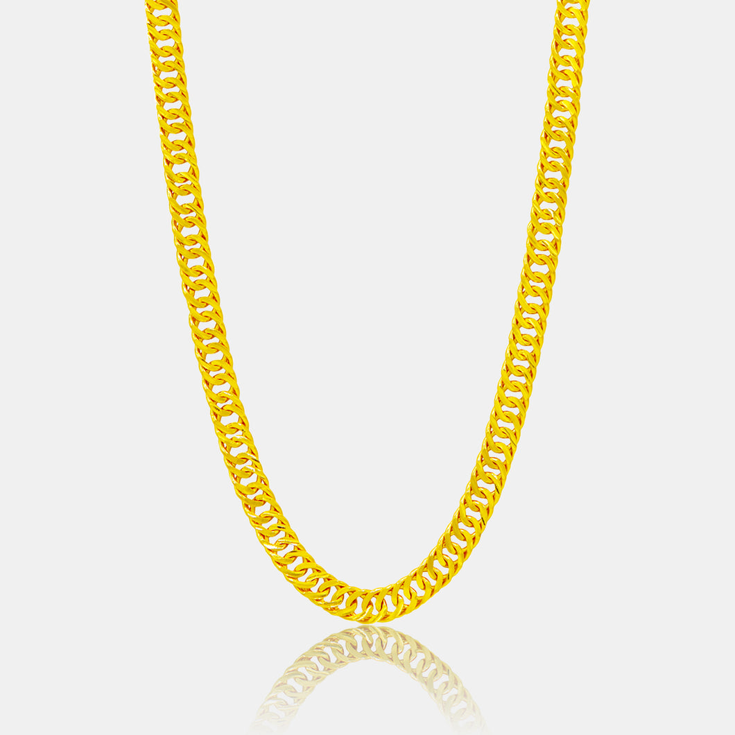 24K Gold Cuban Link Necklace (7MM)