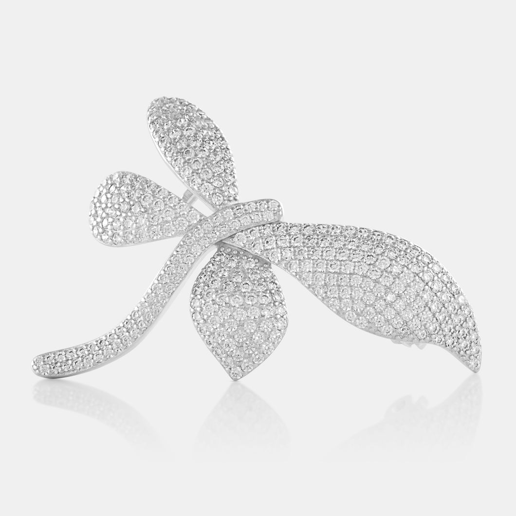 Zircon Firefly Brooch with Sterling Silver