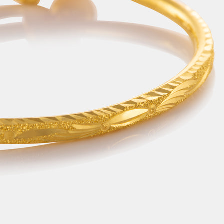 24K Gold Fancy Baby Bangle
