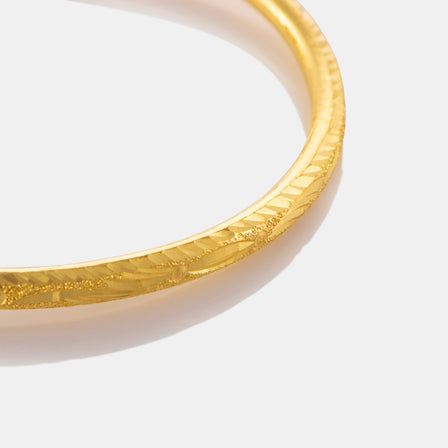 24K Gold Fancy Pattern Baby Bangle