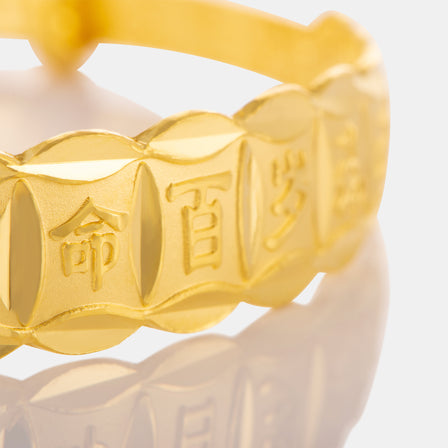 24K Gold Flat Blessing Baby Bangle