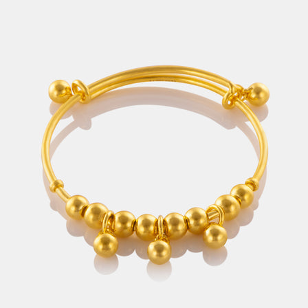 24K Gold Multi Bead Baby Bangle