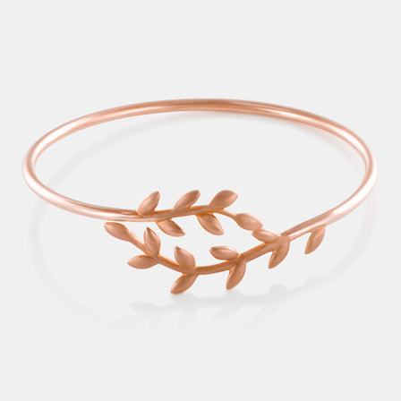 18K Rose Gold Vine Wire Bangle