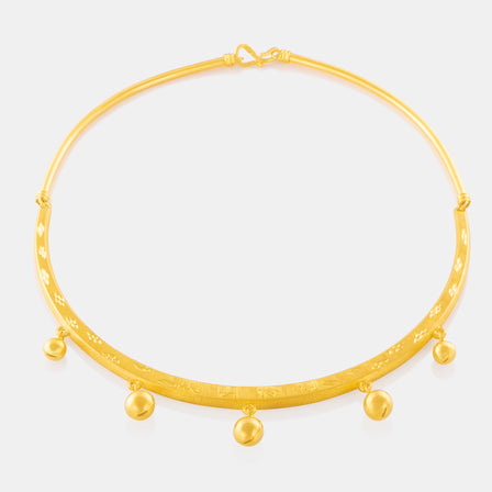 24K Gold Traditional Baby Necklace