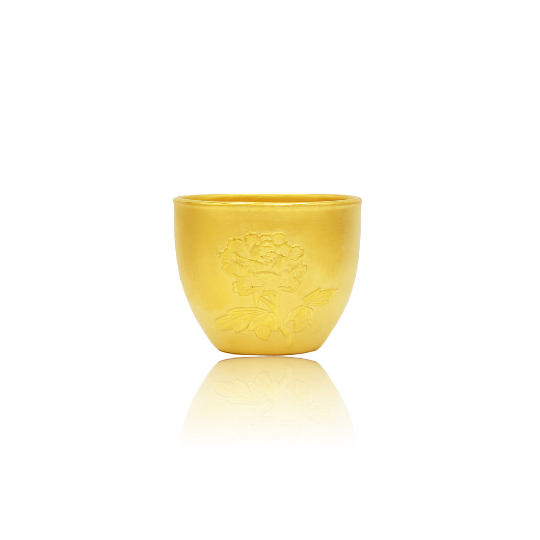 24K Gold Teacup from Lao Feng Xiang Jewelry in Vancouver 老凤祥