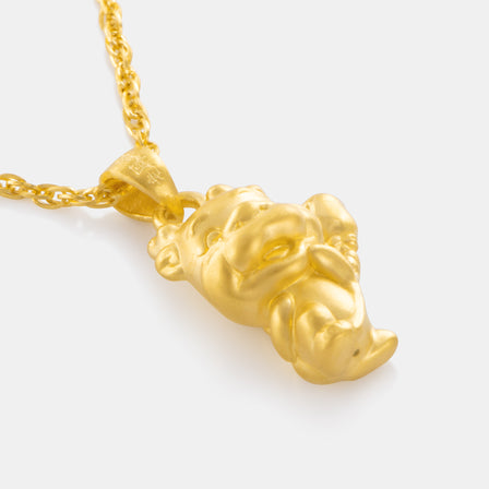 24K Gold Zodiac Dragon Pendant