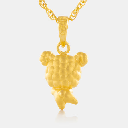 24K Gold Zodiac Sheep Pendant