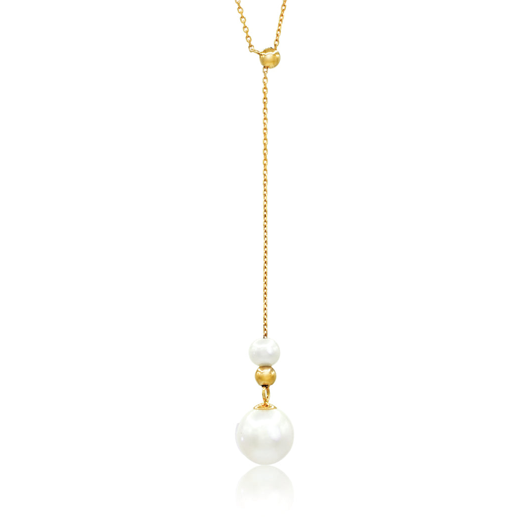 Freshwater Pearl Y-Drop Necklace