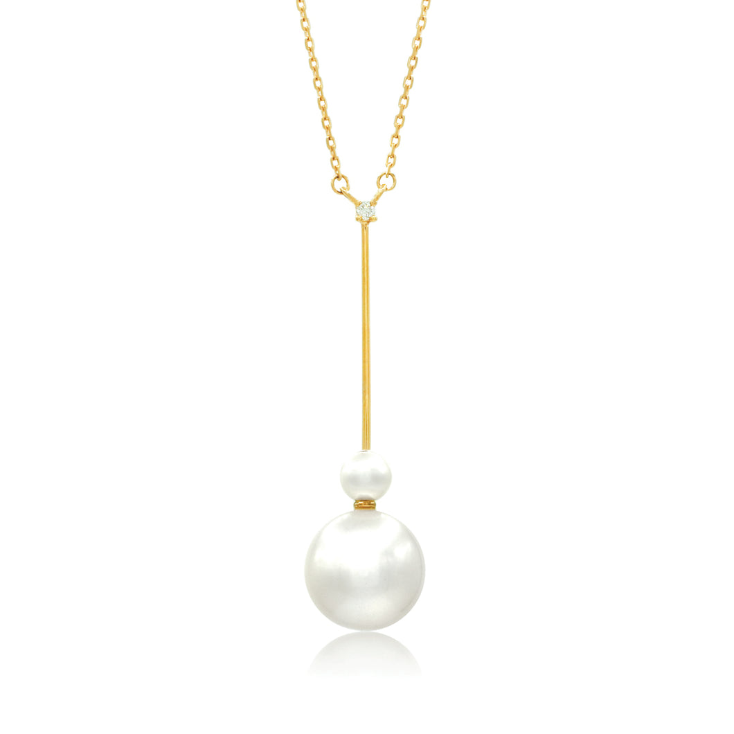 Freshwater Pearl Vertical Bar Necklace
