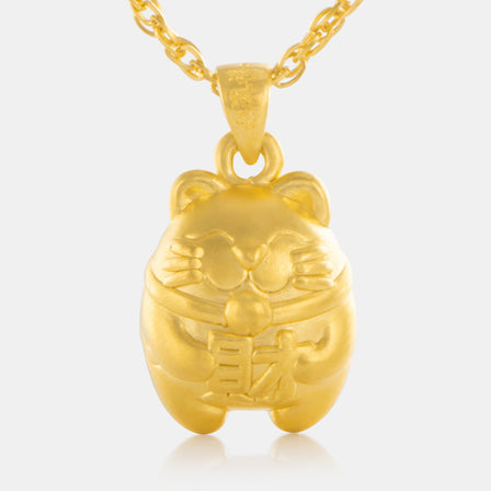 24K Gold Lucy Cat Pendant