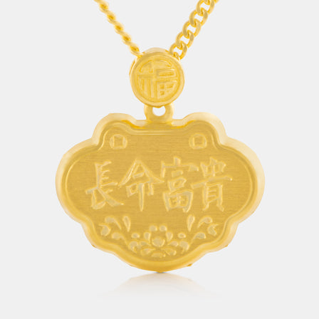 24K Gold Blessing Baby Lock