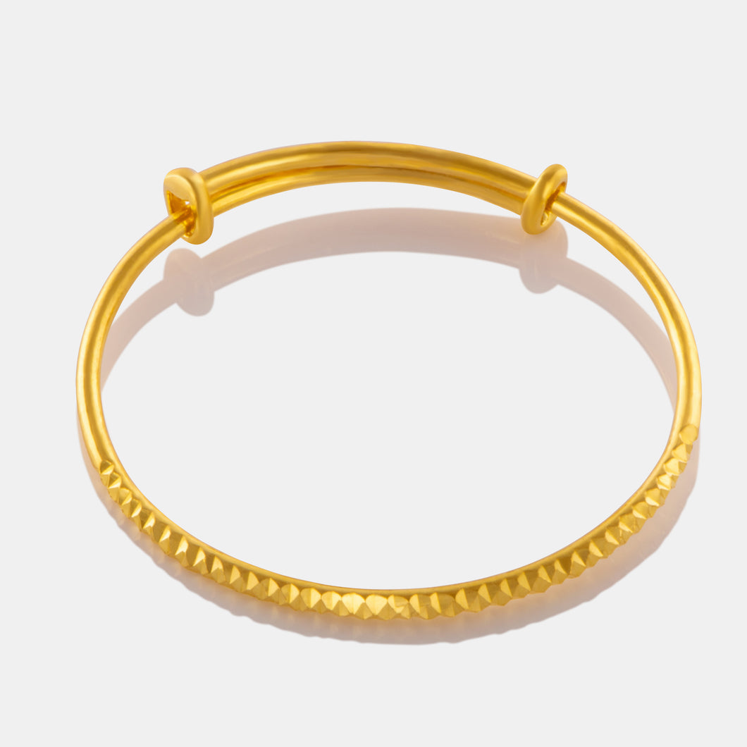 24K Gold Textured Baby Bangle