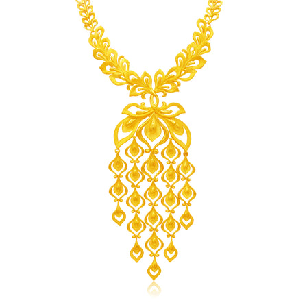 Cascading Phoenix Tail Wedding Necklace