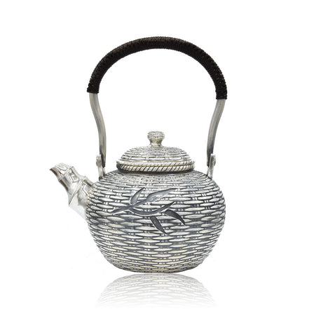 Sterling Silver Bamboo Tea Pot