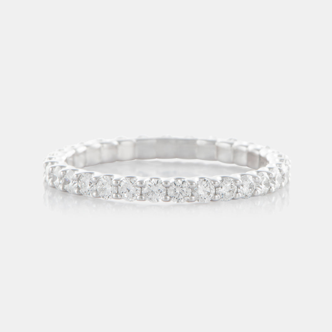 Diamond Full Circle Band with 18K White Gold